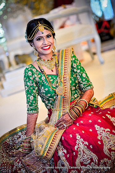 Gorgeous Indian Bride Posing for photo shoot