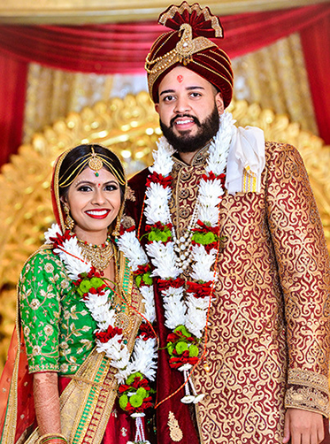 Indian Bride and Groom Potrait Capture