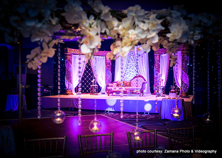 Stunning capture of Indian Reception Decoration
