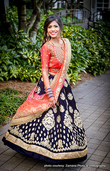 Indian Bride Posing for photoshoot