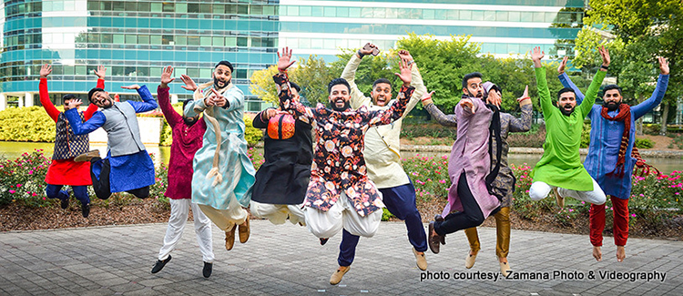 Indian Groom with Groomsmen Sangeet Dance Capture