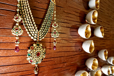 Indian Wedding jewelry of the bride