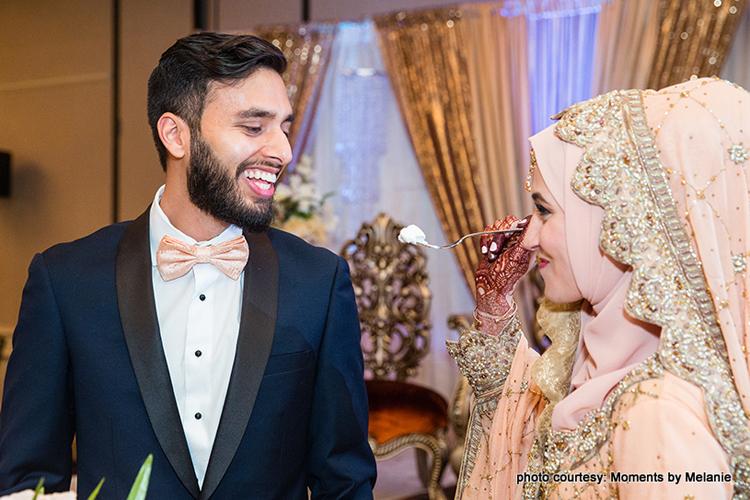 Couple celebrating their ceremony