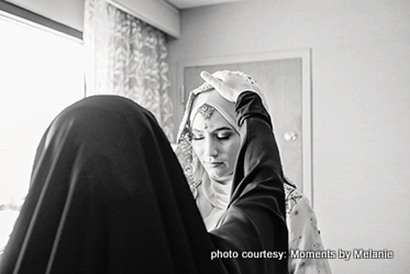 Mom giving Blessings to the bride to be