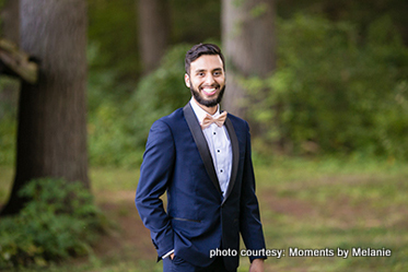 Handsome Groom posing for the picture