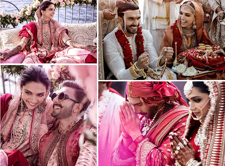 Deepika will be wearing outfits by designer Sabyasachi for the wedding