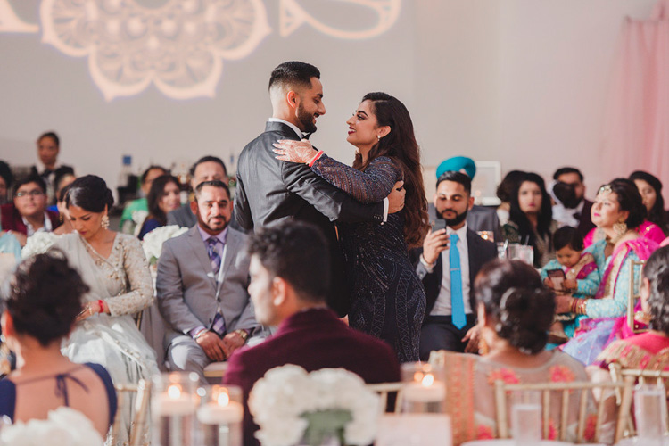 Indian Bride and Groom Doing Couple Dance