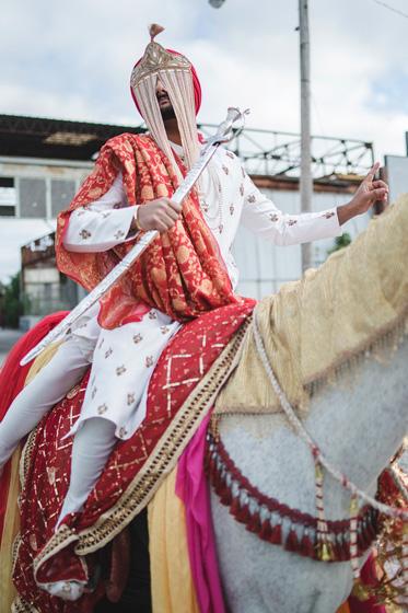 Indian Groom Baraat Procession
