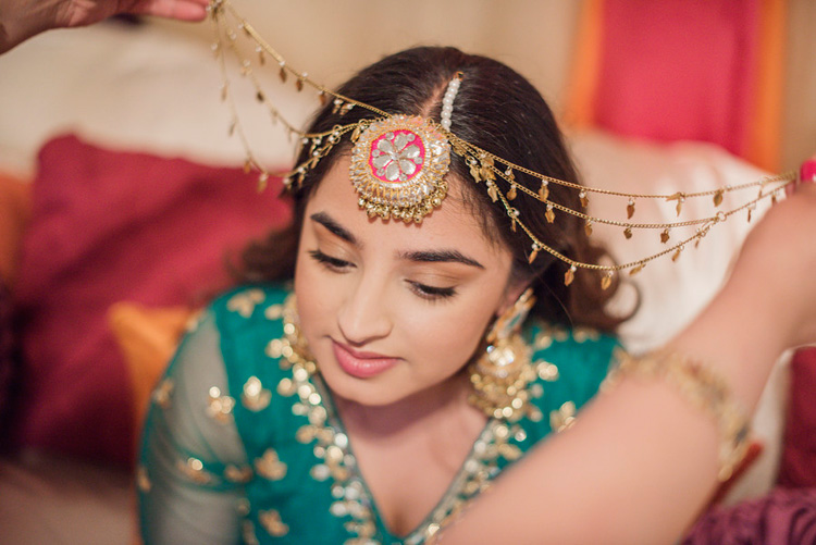 Indian Bride Getting ready for her Sangeet