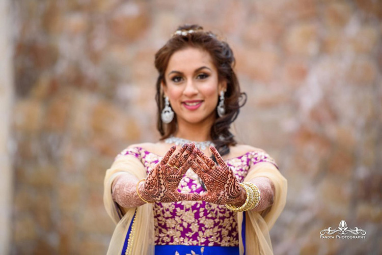 Indian Bride Showing her Mahendi