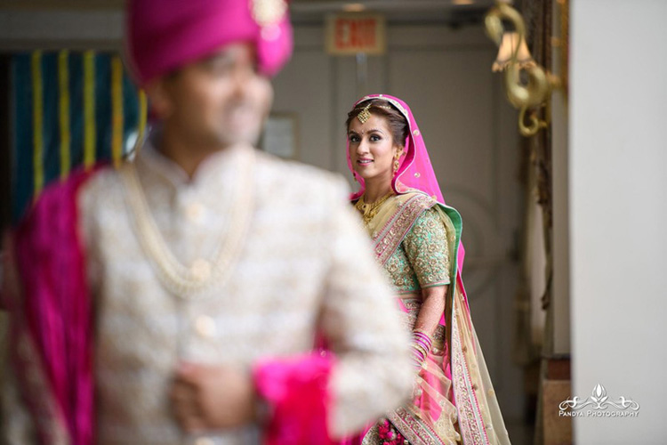 Indian Bride Going to Meet Indian Groom