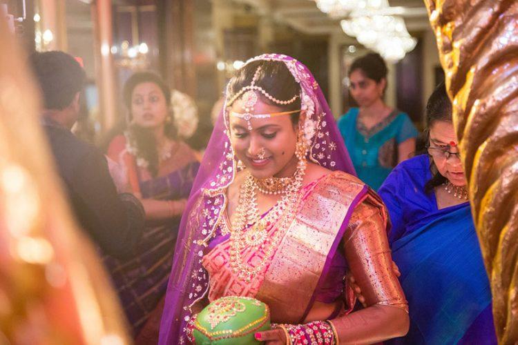 Indian Bride Coming at Mandap for wedding
