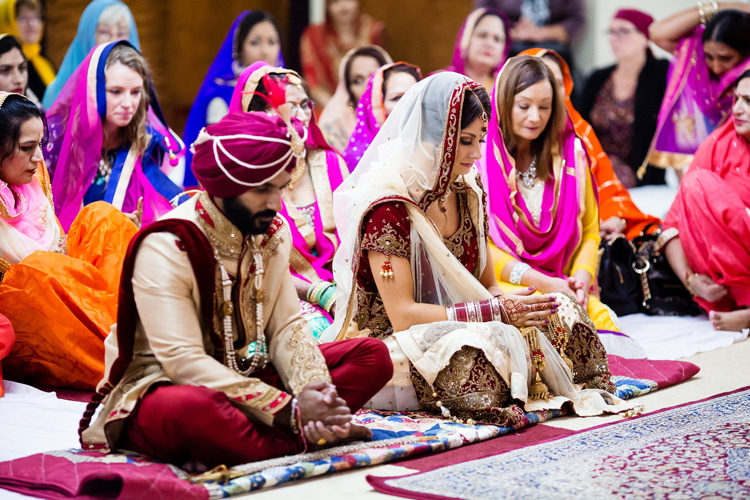 Indian Bride and Groom Ready for Sikh Wedding