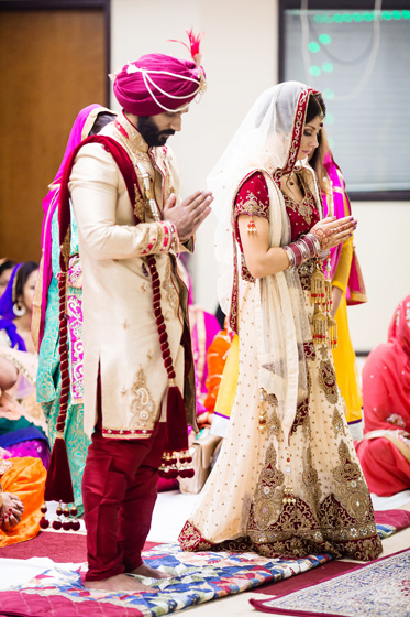 Indian Bride and Groom Taking Blessing from their God