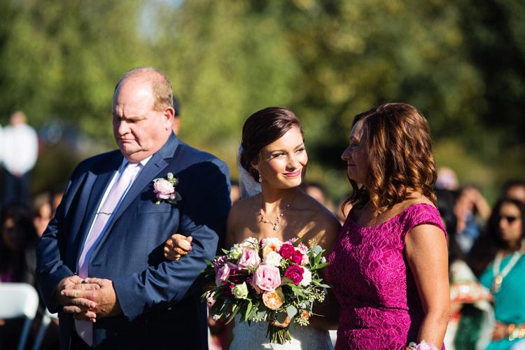 Indian Bride with her Parents Capture