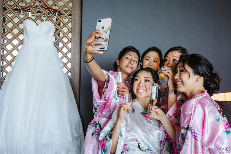 Indian Bride with Bridesmaids Photoshoot