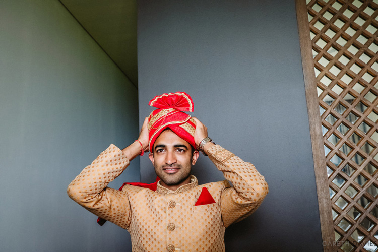Indian Groom Wearing Safa