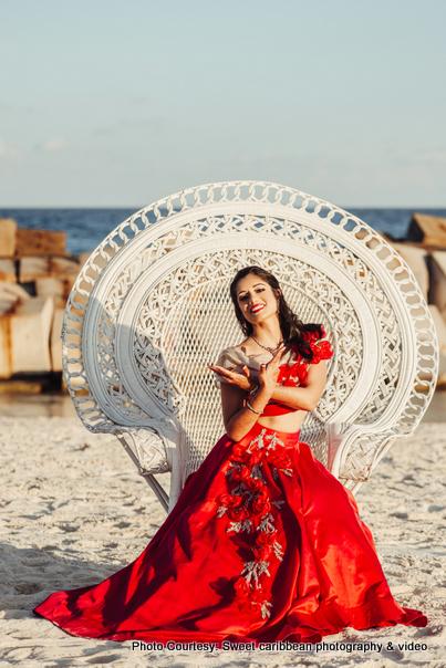 Bridal Photoshoot On beach