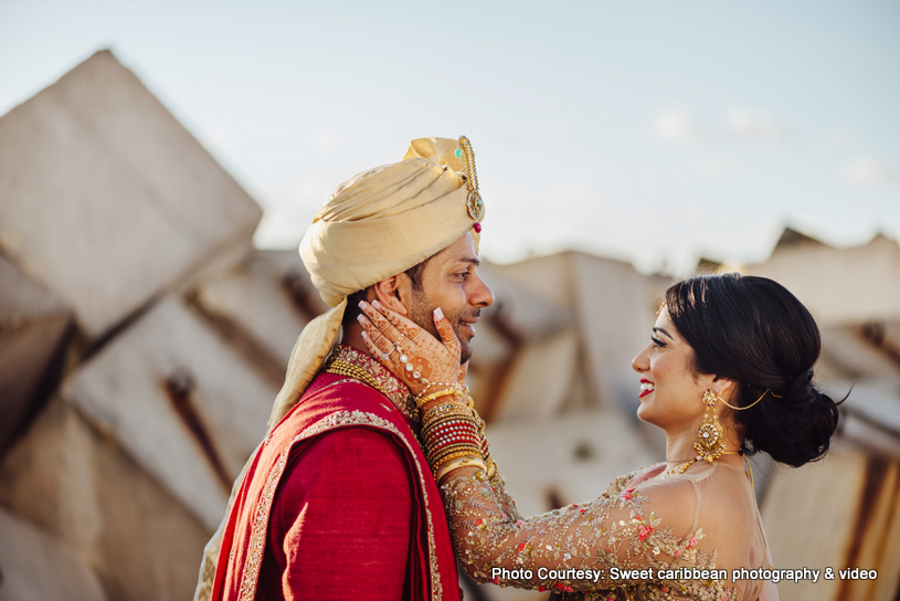 Indian Couple looking into each others eyes