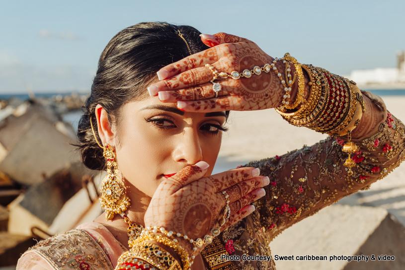 Maharaani posing for a photo