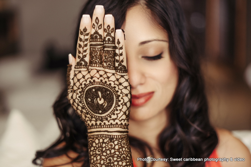 Portrait look of indian bride