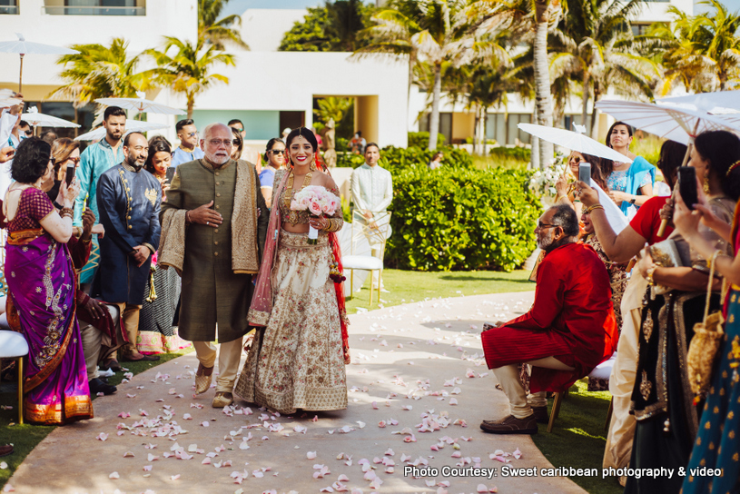 Indian Bride Arriving at the baraat