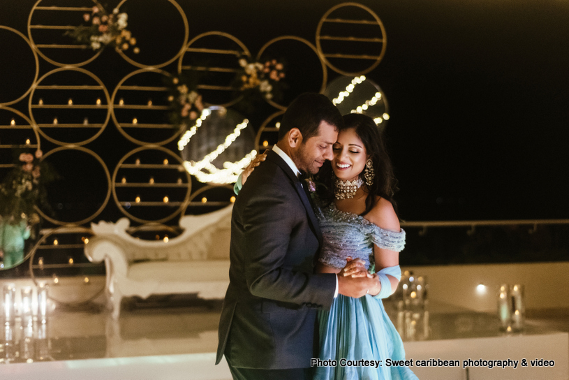 First dance of indian couple