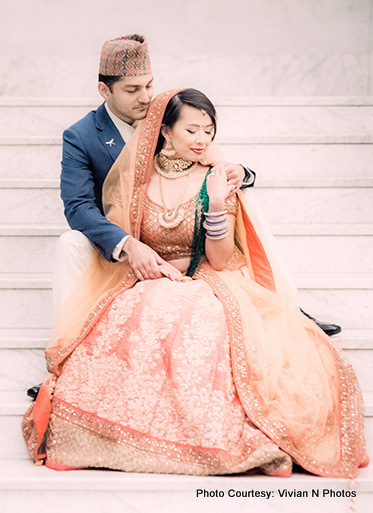 Indian Bride and Groom Ready for Indian Wedding
