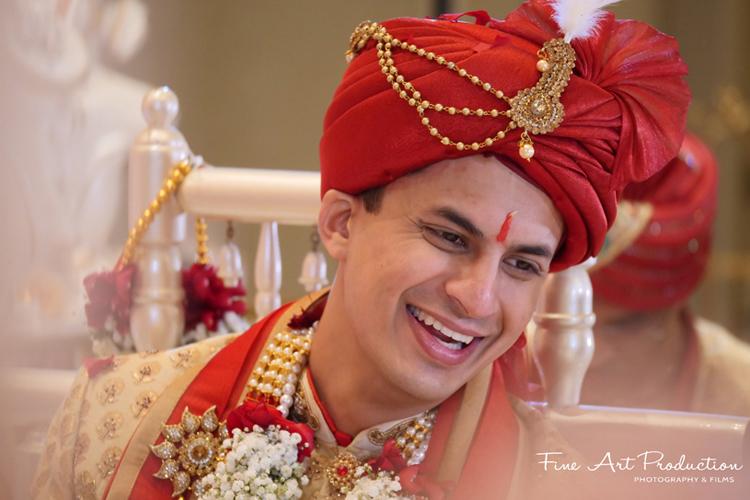 Portrait look of Indian groom