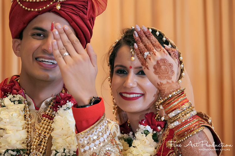 Indian Couple after the ring Ceremony