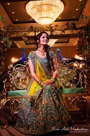 Bride's look before the sangeet