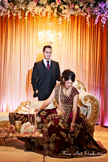 Gorgeous Indian Couple At the wedding Reception