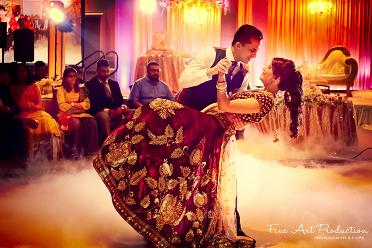 Indian Bride and Groom tender moment