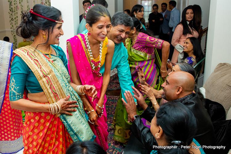 Bride to be at Haldi Ceremony