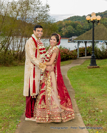 Cute Pose given by Indian Couple