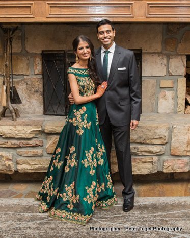 Indian Couple at the wedding Reception