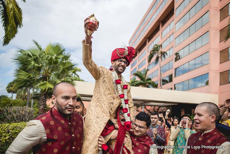 Indian Groom at the Baraat