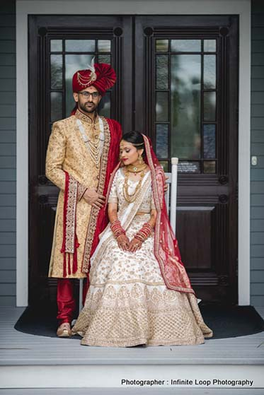 Indian Couple posing for the photoshoot