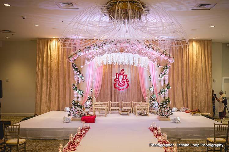 Indian Wedding Stage Decor Details
