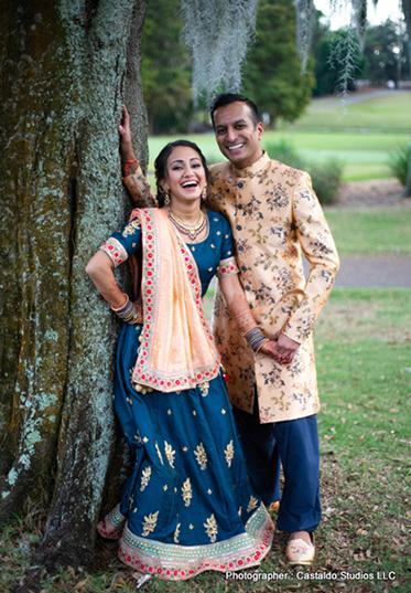 Indian Bride and Groom Enjyoing their Pre Wedding Shoot