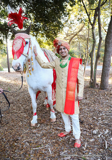 Indian Groom Ready For Baraat