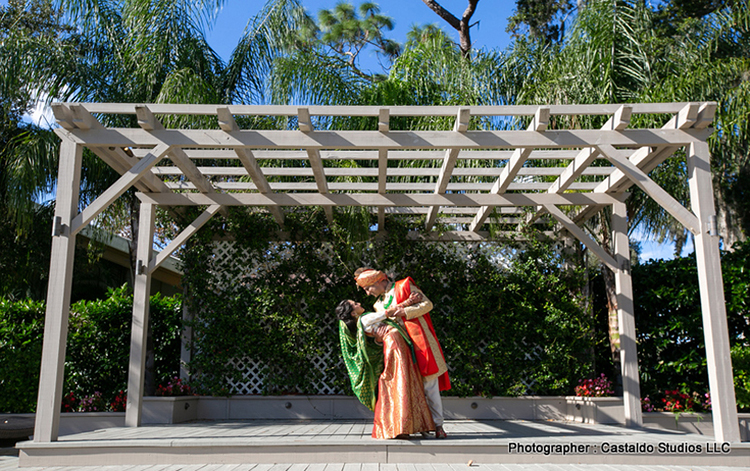Indian Bride and Groom Possing for Indian Wedding Pictures