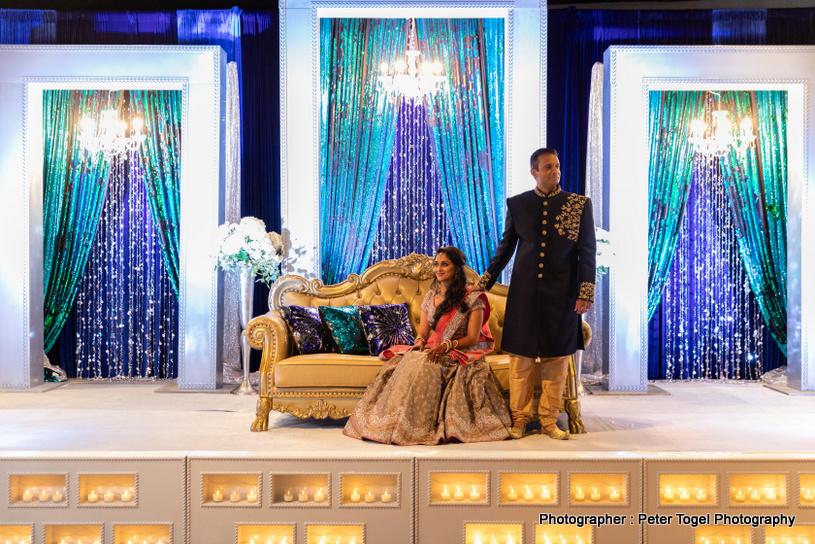 Dazzling Indian Bride showing her mehendi