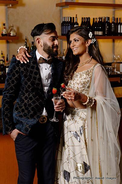 Indian Couple enjoying Drinks