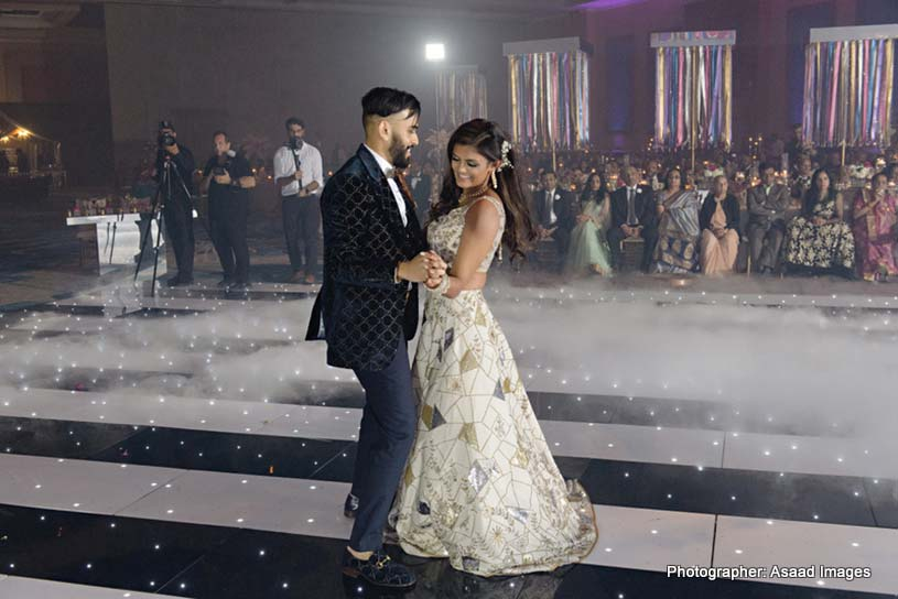 Indian Lovebirds Dancing in Reception Ceremony