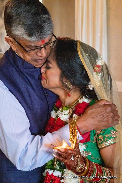 Indian Bride at the Vidaay Ceremony
