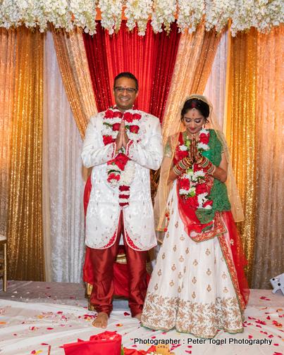 Newly Weds Couple under Wedding Mandap