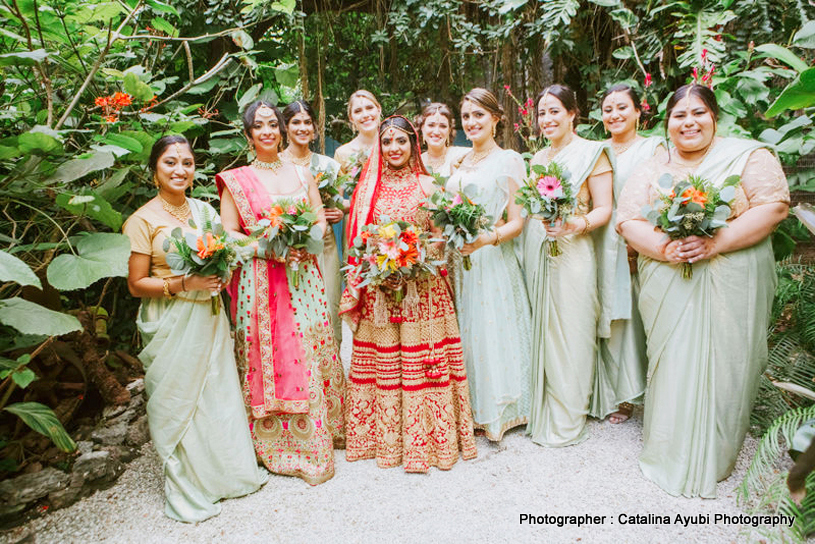 Indian Bride with her Sister and Bridesmaid Capture