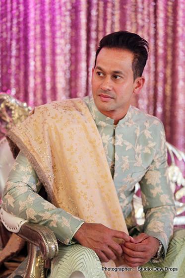 Indian Groom Ready in Wedding attire