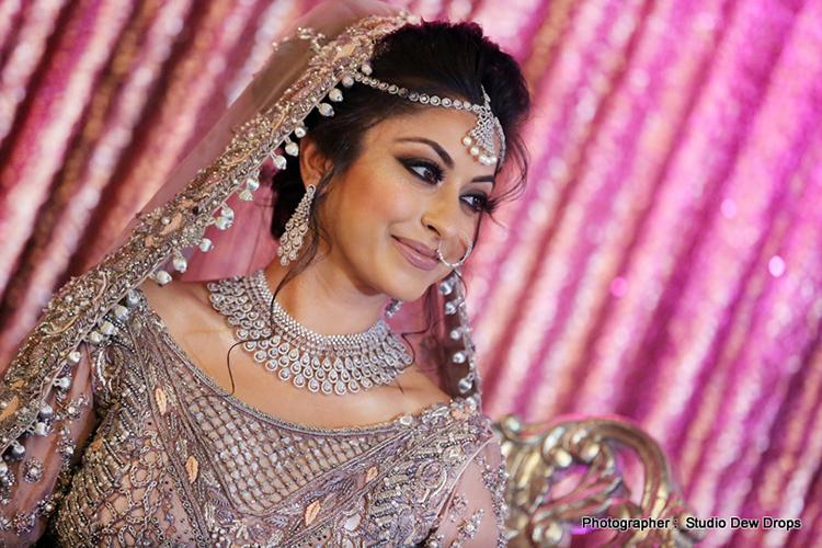Beautiful wedding look of Indian Bride